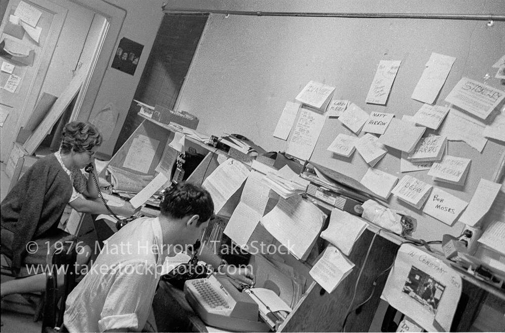 SNCC's communications office in Greenwood, MS, during Freedom Summer, June 1, 1964, Matt Herron, Take Stock