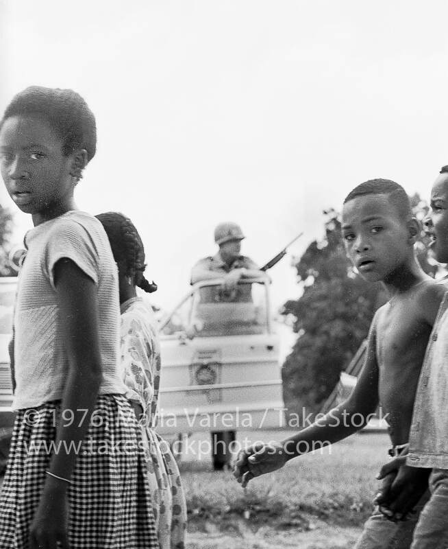 Children marching at the Meredith March Against Fear in Mississippi, 1966, Maria Varela, Take Stock